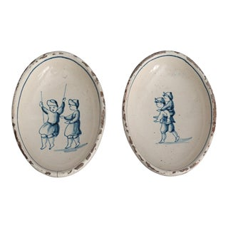 Antique Delft Dishes, Children, Set of 2