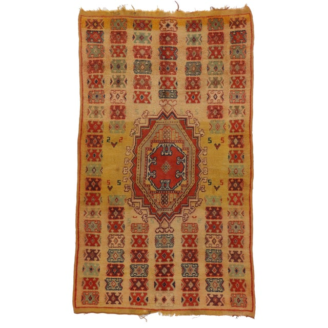 Image of Vintage Berber Moroccan Rug - 5′ × 8′4″