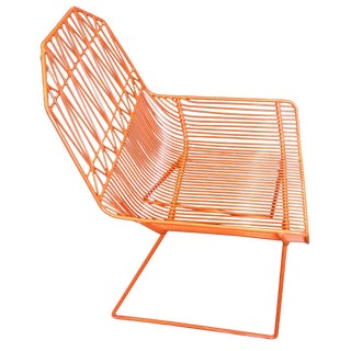 Bend Goods Orange Farmhouse Lounge Chair