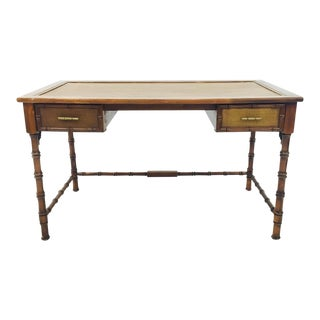 Vintage Campaign Style Bamboo Desk