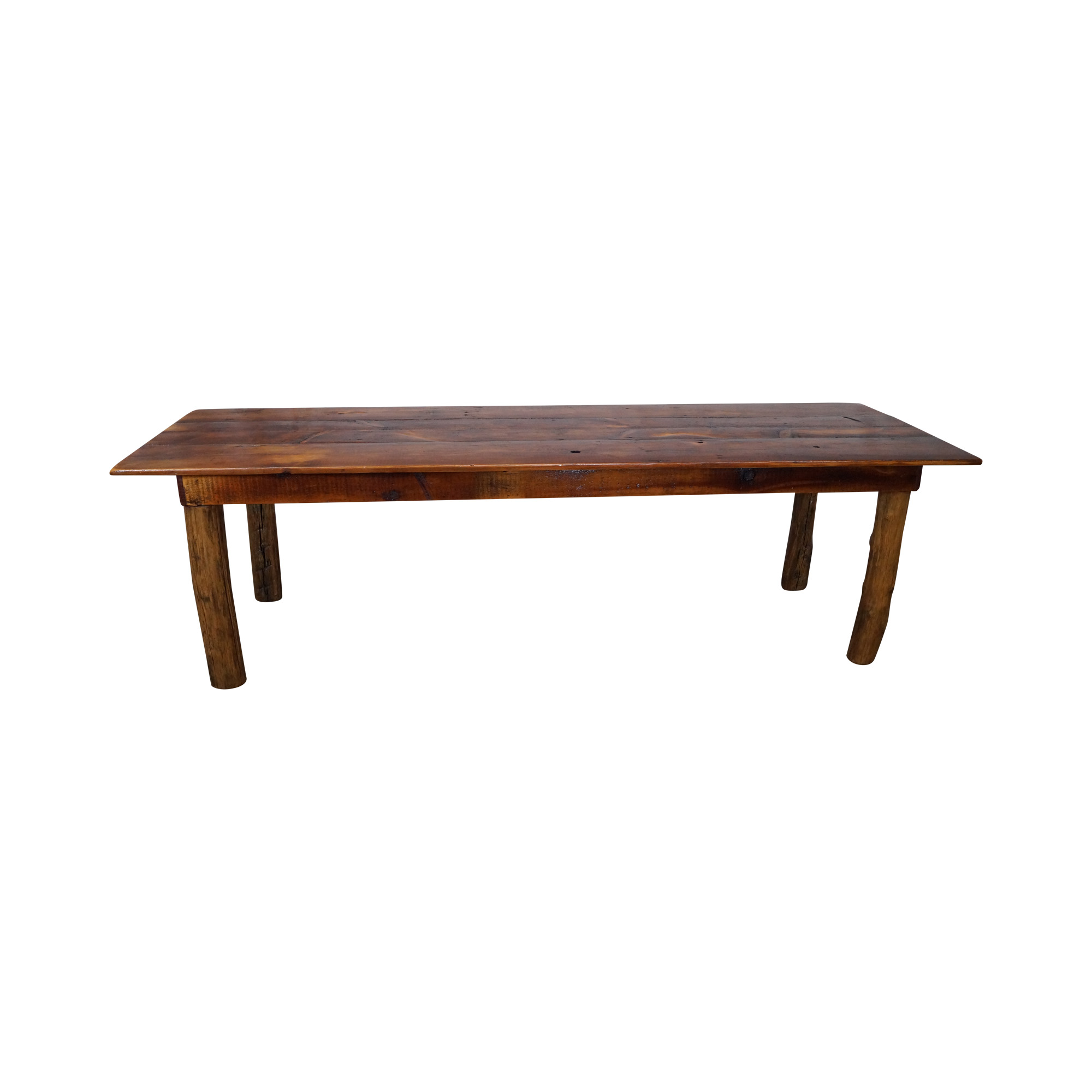 Antique Salvage Wood Long Pine Farm Dining Table