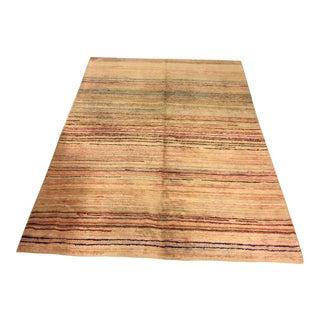 "Oversize Turkish Wool Hemp Carpet - 85"" x 113"""