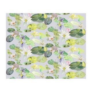 Voutsa Wallpaper - Lotus on Grey Green