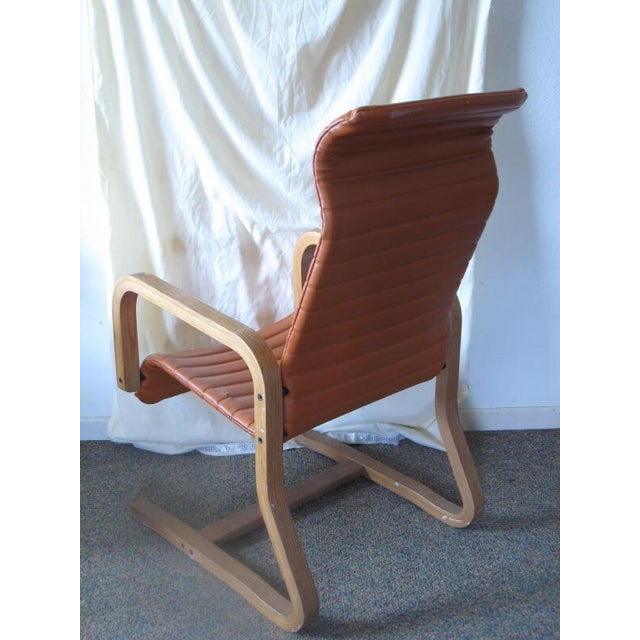 Thonet Oak Laminated High Back Lounge Chair - Image 5 of 11