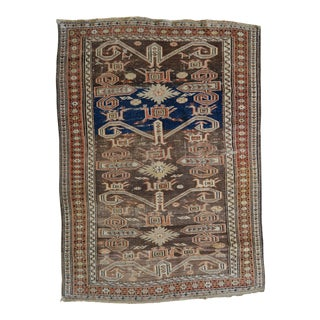 "Antique Distressed Kuba Rug - 2'9"" x 3'10"""