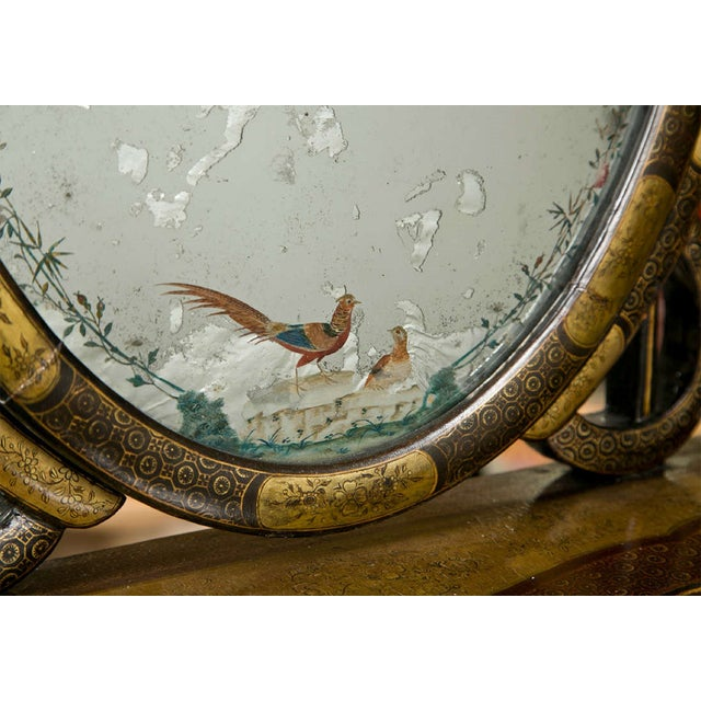 19th C. Oriental Vanity Table Mirror - Image 6 of 10