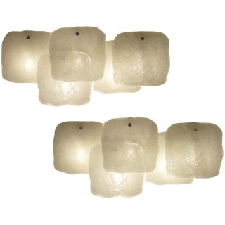Pair of Large Modernist Wall Sconces by JT Kalmar