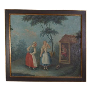 18th Century Romantic Italian Paintings, Set of Four