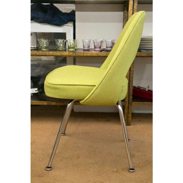 Saarinen Executive Side Chair, Honey Dew Green - Image 4 of 8