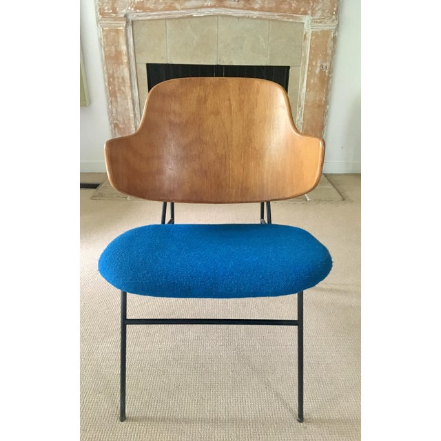 "Ib Kofod Larsen ""Penguin"" Chair in Blue - Image 3 of 11"