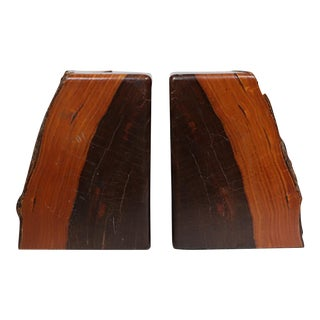 Pair-Early-Mid 20th c. Wooden Bookends c. 1940-1950s