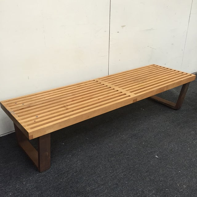 Image of George Nelson Platform Slatted Bench