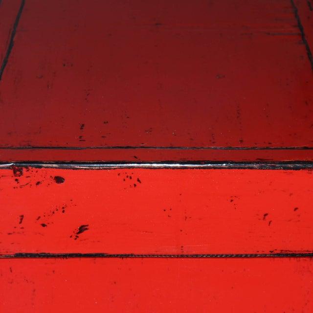 Red Paneled Door Sideboard - Image 4 of 5