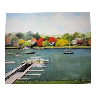 """The Narragansett Bay"" Signed Oil Painting"