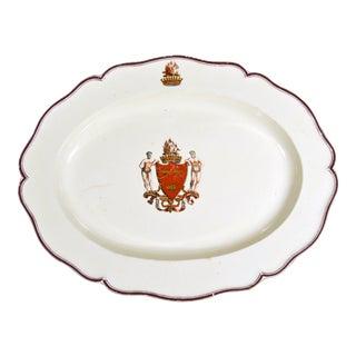 Creamware Armorial Dish: Arms of Grant
