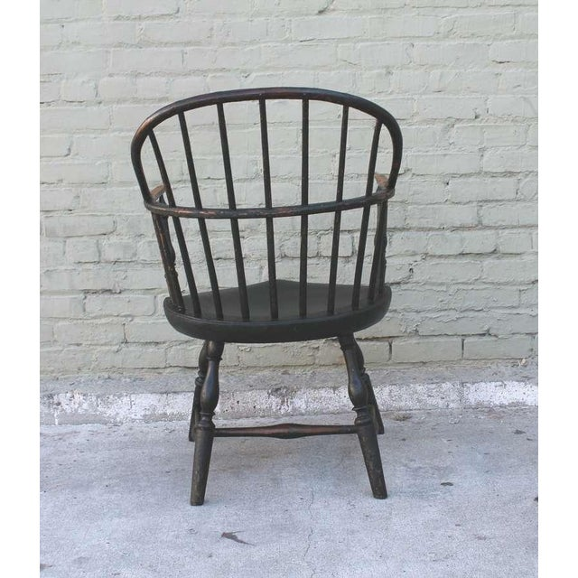 18th Century Original Green Extended-Arm Windsor Chair - Image 6 of 10