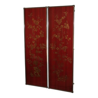 Chinoiserie Framed Wallpaper Panels - A Pair