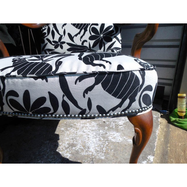 Hickory 1970's Queen Anne Otomi Armchair - Image 9 of 10