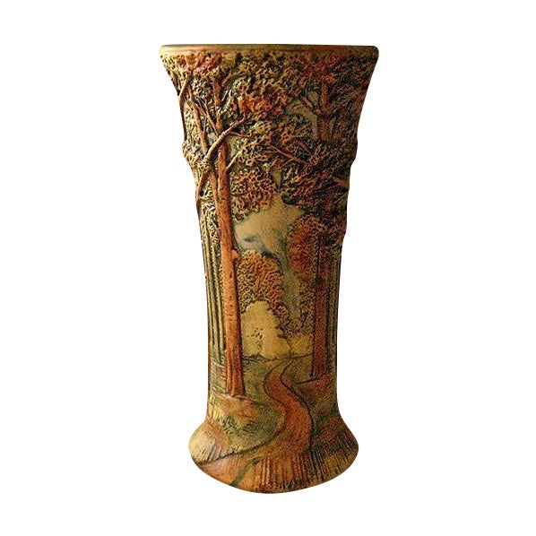 Antique Weller Woodland Forest Vase - Image 1 of 3