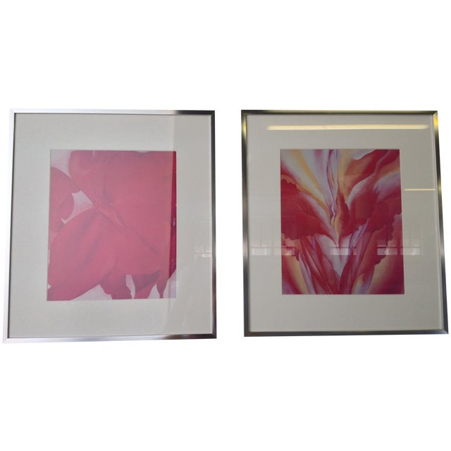 Georgia O'Keeffe Modern Framed Prints - A Pair - Image 1 of 3