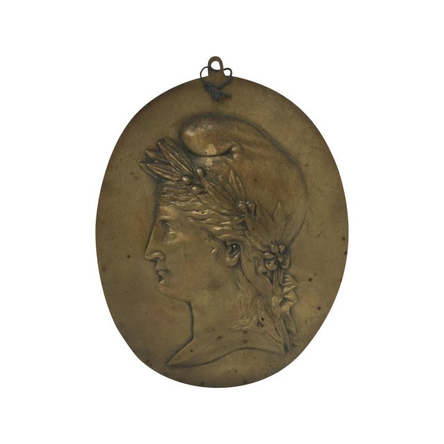 Image of Nineteenth Century French Brass Plaque