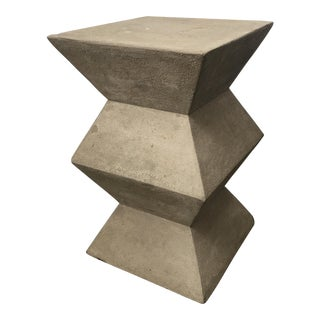 Cement Architectural Side Table