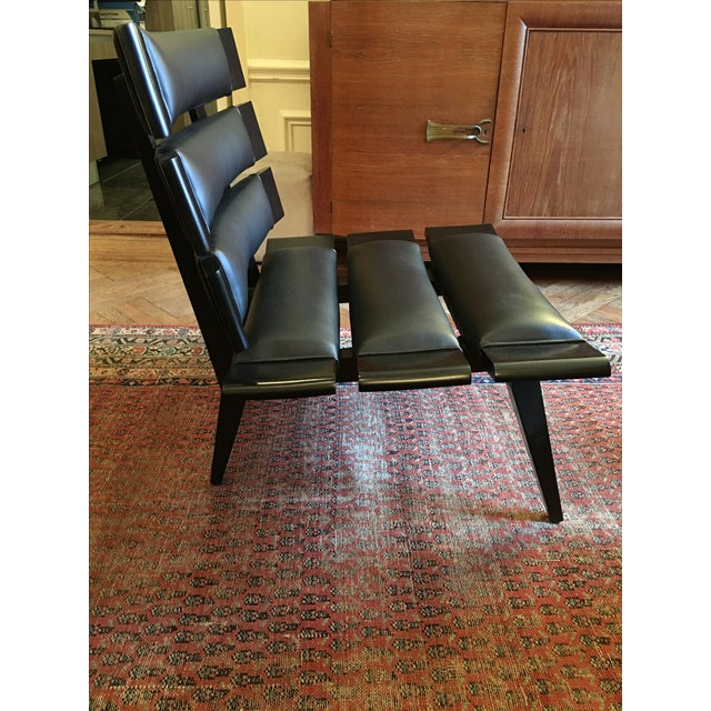 Arteriors Wood & Leather Slatted Chair - Image 4 of 6