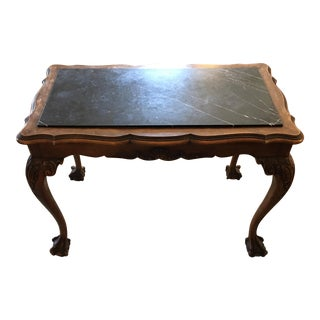 Antique Traditional Marble Side Table