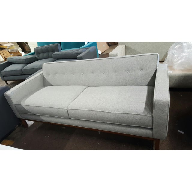 Brand New Mid Century-Inspired Custom Gray Sofa - Image 2 of 5