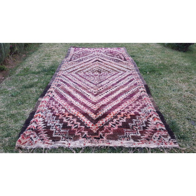 Moroccan Beni Ourain Rug- 6′4″ × 13′ - Image 2 of 4