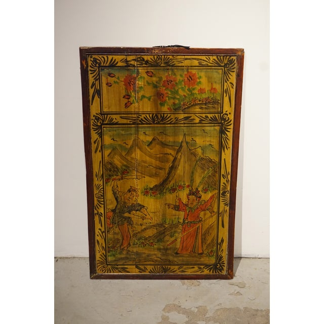 Image of Chinese Painted Wood Panel