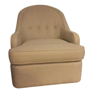 Linen Upholstered Glider/Swivel Armchair