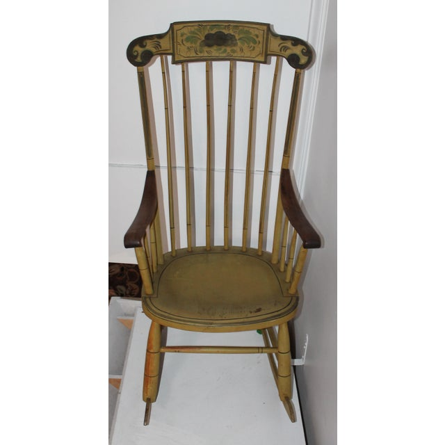 19th Century Fancy Original Painted Rocking Chair from New England - Image 4 of 10