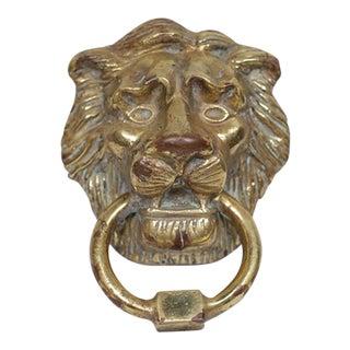 Mid-Century Brass Lion Door Knocker