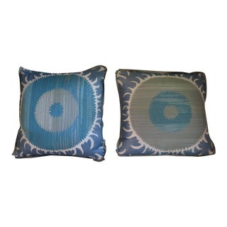 Custom Donghia Suzani Pillows With Flange - A Pair