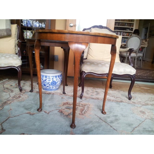 19th Century Cherry Wood Demilune Table - Image 2 of 6