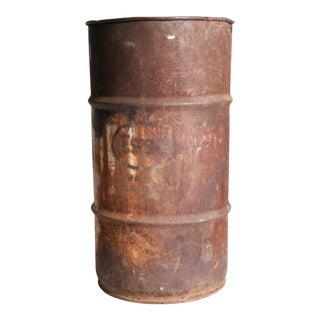 Vintage Industrial Rustic Metal Oil Barrel