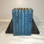 Image of Vintage Display Books in Blues - Set of 6