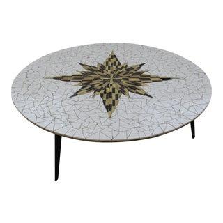Mid Century Modern tile top starburst coffee table