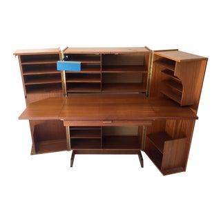 "Teak ""Magic Box"" Folding Desk Cabinet"