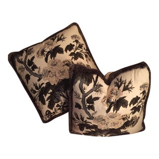 Schumacher Pyne Hollyhock Pillows - Pair