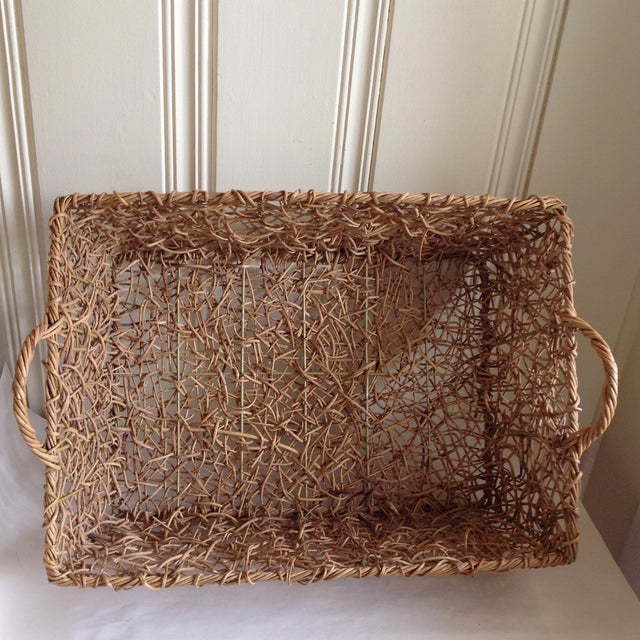 Natural Woven Twig Basket - Image 2 of 8