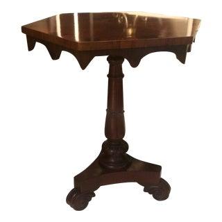 Mahogany Empire Side Table
