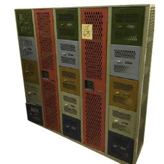Vintage Industrial Steel Lockers