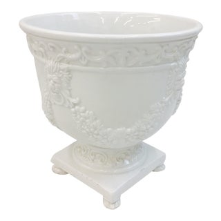 Antique Italian Porcelain Cachepot