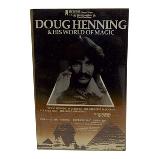 """1982 Michelob Concert Series """"Doug Henning & His World of Magic"""" Vintage Poster"""