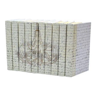 Image Collection Chandelier Gold Books - Set of 10