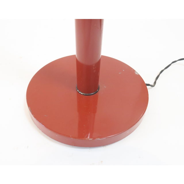 Image of Vintage Red Gooseneck Floor Lamp
