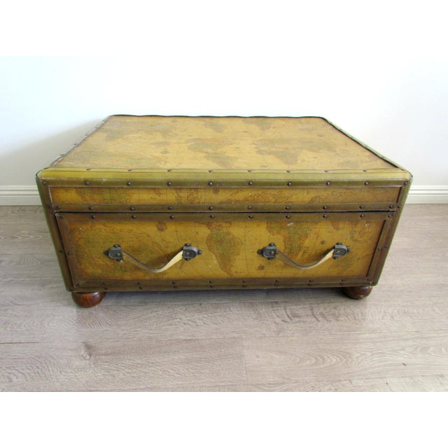 Map Drawer Coffee Table: World Map Chest Coffee Table