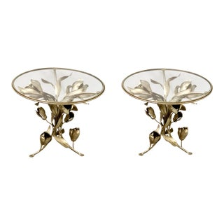 Hollywood Regency Tole Tables- A Pair